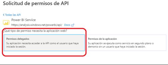 API PowerBI